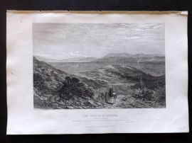 Fairbairn & Blackie 1866 Antique Print. Waters of Merom. Israel